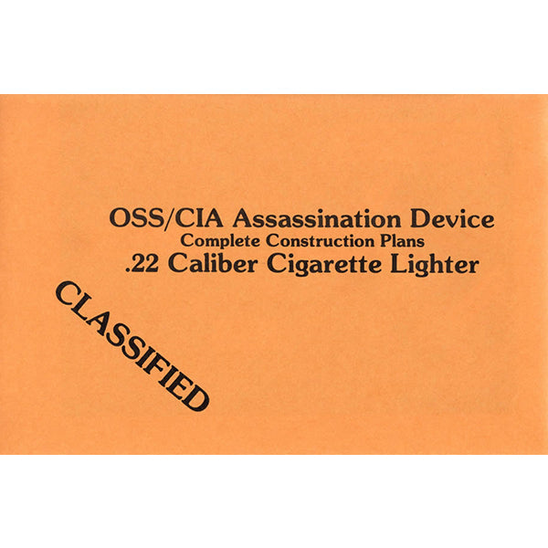 .22 Caliber Cigarette Lighter Construction Plans Book