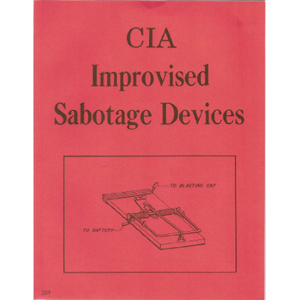 CIA Improvised Sabotage Devices Book
