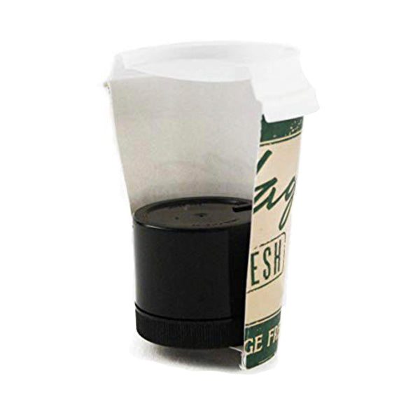 shomer-tec covert coffee in a coffee cup half cup for display