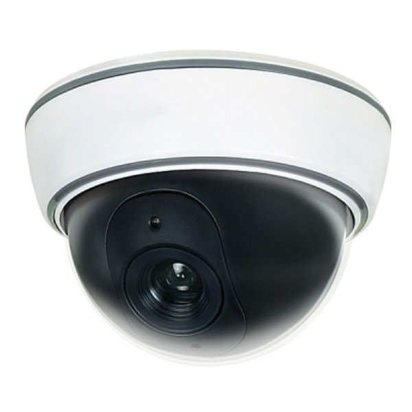 Dummy Indoor Dome Security Camera w/ Blinking Red LED