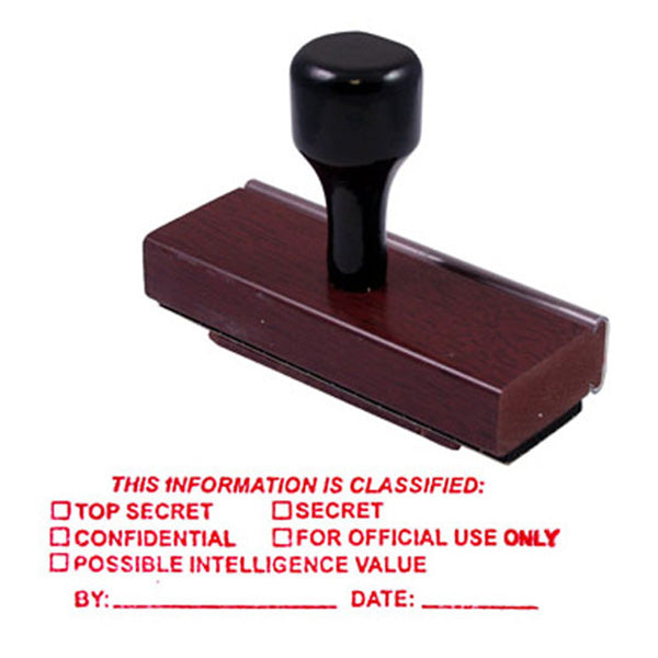 This Information is Classified - Rubber Stamp