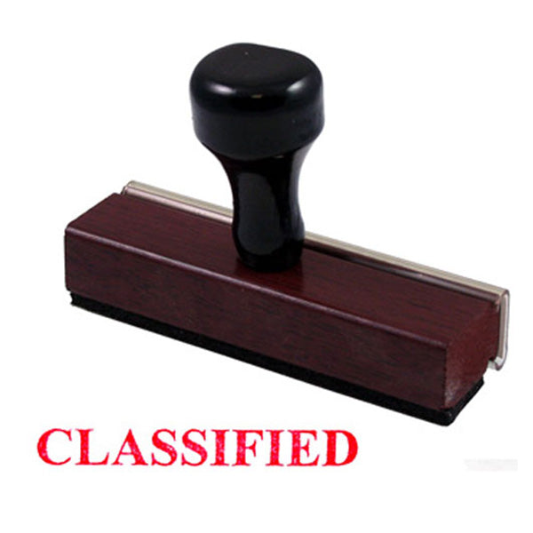 CLASSIFIED Ruber stamp