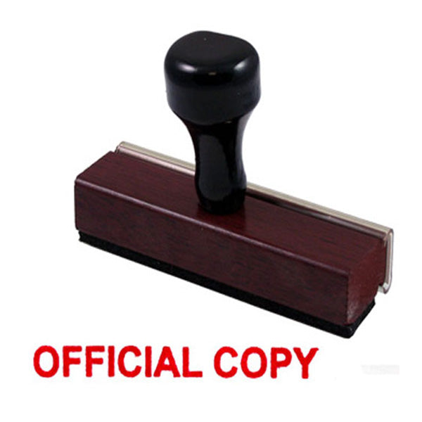 Official Copy - Rubber Stamp