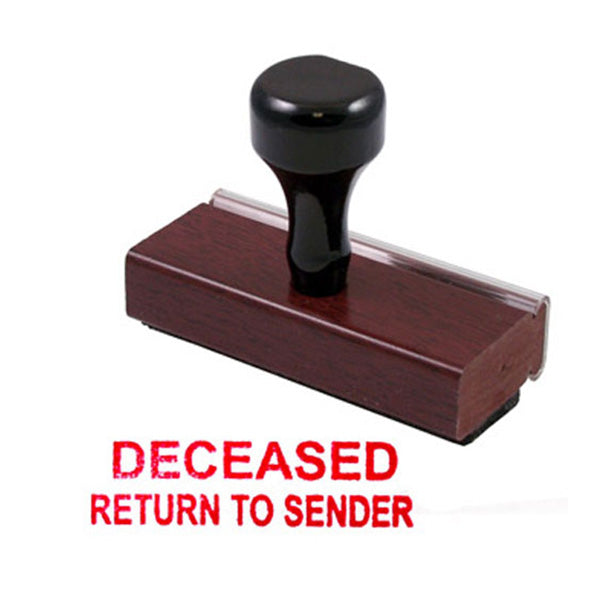 DECEASED RETURN TO SENDER