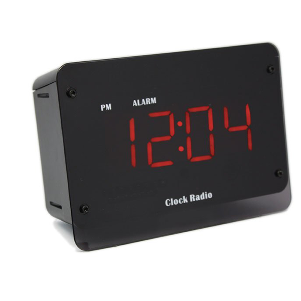 SG Home Night Vision Clock Radio Wi-Fi Hidden Camera (Side View)