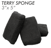 Black 3 X 5 Terry Sponge Applicator Pad