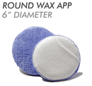 6-Inch Round Microfiber Wax Sponge Applicator With Hand Pocket