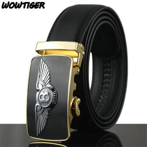 WOWTIGER Men's Famous Luxury Brand Leather Belt