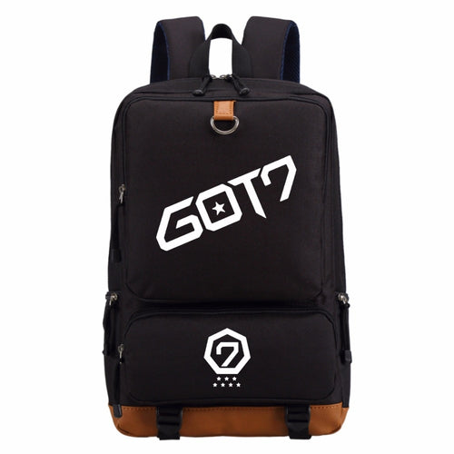 WISHOT GOT7 EXO BIGBANG Canvas Backpack