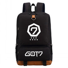 Load image into Gallery viewer, WISHOT GOT7 EXO BIGBANG Canvas Backpack