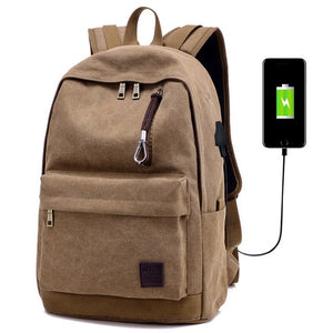 Men's Canvas Backpack for Laptop.  Waterproof