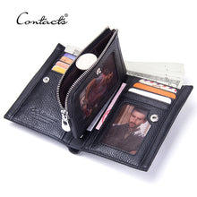 Load image into Gallery viewer, CONTACT'S Genuine Leather Cowhide Wallet with Coin Holder