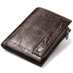 CONTACT'S Genuine Leather Cowhide Wallet with Coin Holder