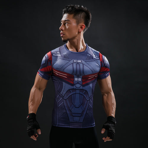 Ant-Man Marvel 3D Printed Compression T-Shirt
