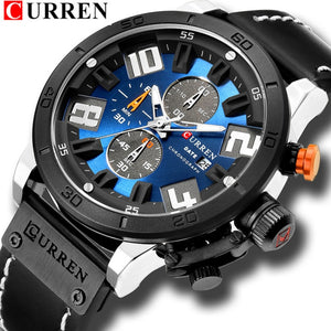 CURREN Fashion Watch Leather Strap Water Resistant