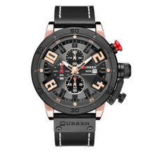 Load image into Gallery viewer, CURREN Fashion Watch Leather Strap Water Resistant