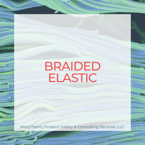"1/8"" White Braided Elastic"