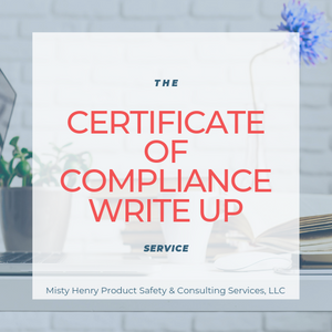 The Certificate of Compliance Write-Up Service