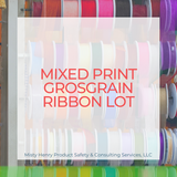 Mixed Print Grosgrain Ribbon Lot