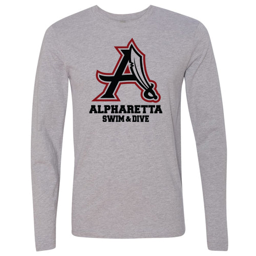 AHS Raiders Swim & Dive - Unisex L/S T-Shirt (Heather Grey)