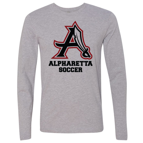AHS Raiders Mens Soccer - Unisex L/S T-Shirt (Heather Grey)