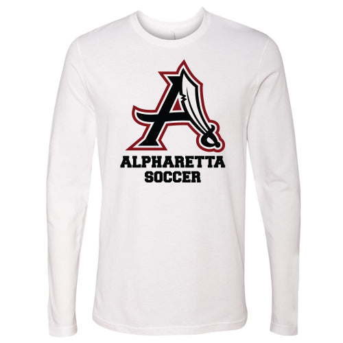 AHS Raiders Mens Soccer - Unisex L/S T-Shirt (White)