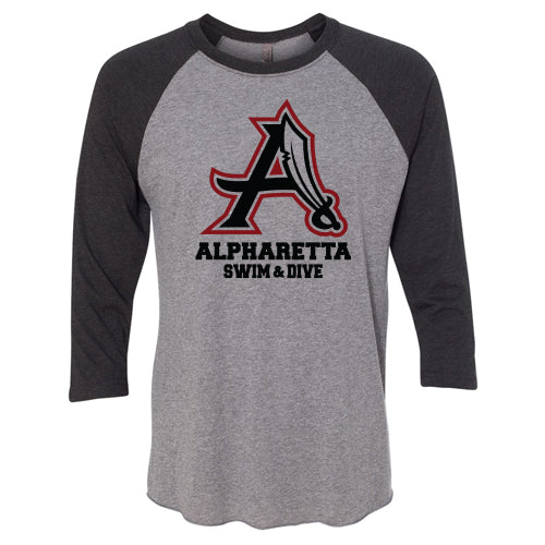 AHS Raiders Swim & Dive - Unisex Raglan T-Shirt