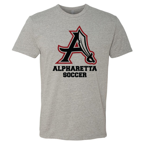 AHS Raiders Mens Soccer - Unisex S/S T-Shirt (Dark Heather Grey)