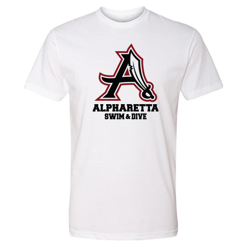 AHS Raiders Swim & Dive - Unisex S/S T-Shirt (White)