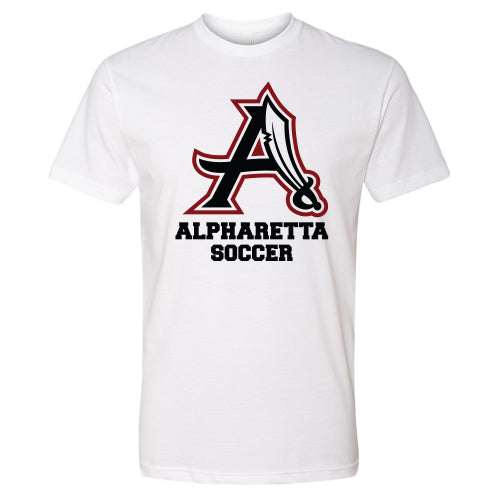 AHS Raiders Mens Soccer - Unisex S/S T-Shirt (White)