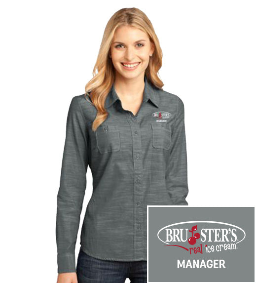 Bruster's Manager L/S Shirt : Ladies