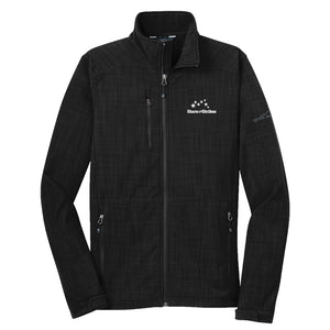 Open image in slideshow, Mens Eddie Bauer Shaded Crosshatch Soft Shell Jacket (3 Color Options)
