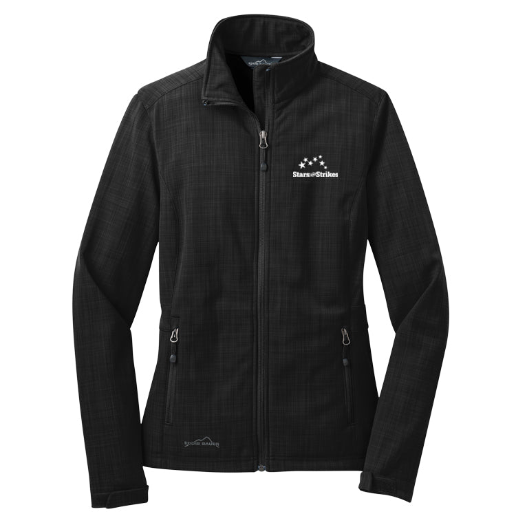 Ladies Eddie Bauer Shaded Crosshatch Soft Shell Jacket (4 Color Options)