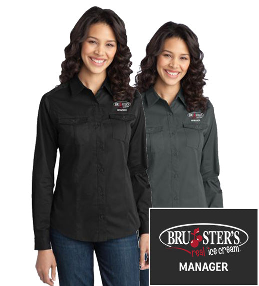 Bruster's Manager Twill Shirt : Ladies (CLOSEOUT SALES)