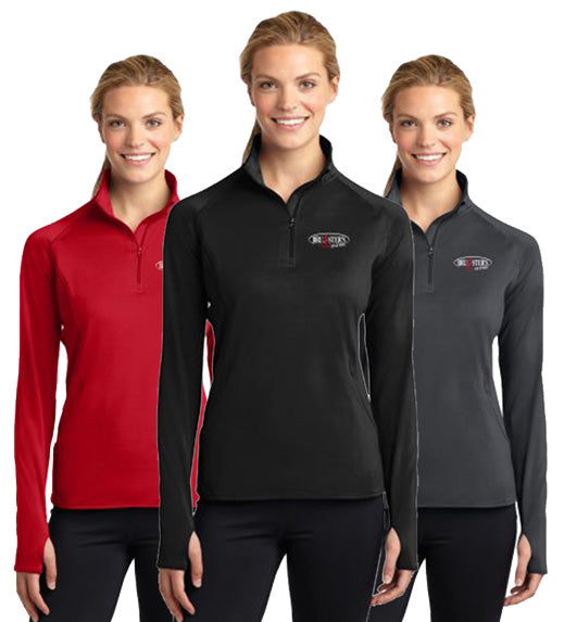 Bruster's 1/4 Zip Pullover : Ladies