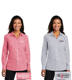 Open image in slideshow, Bruster's L/S Dress Shirt : Ladies