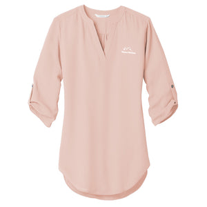 3/4 Sleeve Tunic Blouse (8 Color Options)