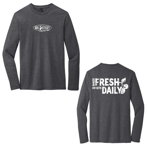 Bruster's Made Fresh L/S Tee (Charcoal)