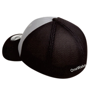 OneWake - Retail Hat - Grey/Black - 72 qty