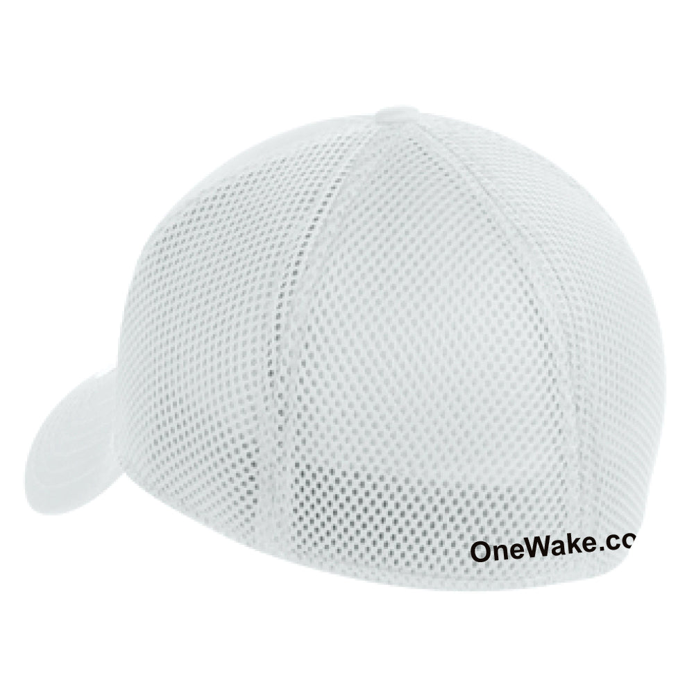 OneWake - Retail Hat - White/White - 72 qty