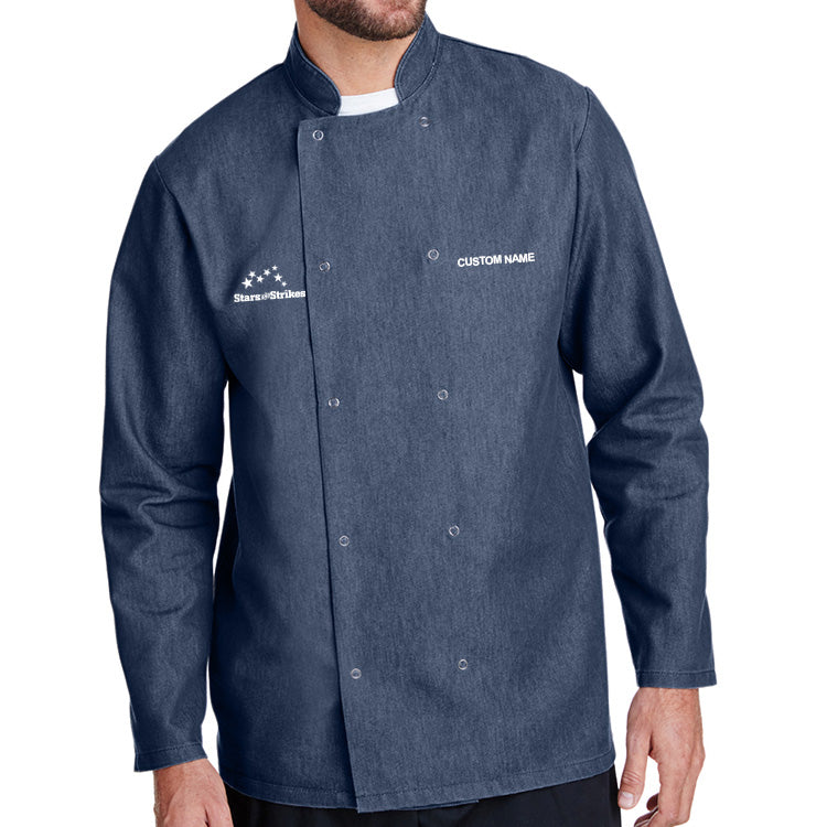 Denim Chef Coat - L/S - Blue