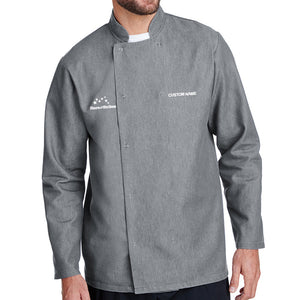Denim Chef Coat - L/S - Grey