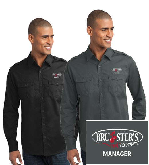 Bruster's Manager Twill Shirt : Men's (CLOSEOUT SALE)