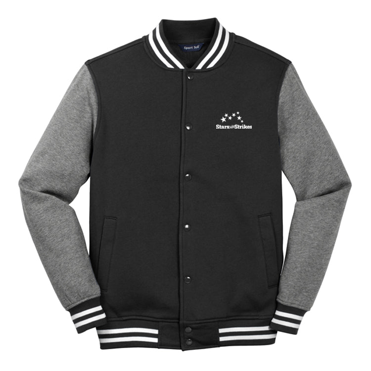 Mens Fleece Letterman Jacket