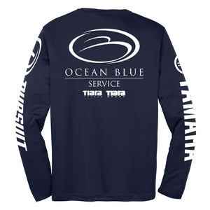 Open image in slideshow, Ocean Blue Yacht - Service Dri-Fit Long Sleeve (Co-Branded) - 72 qty