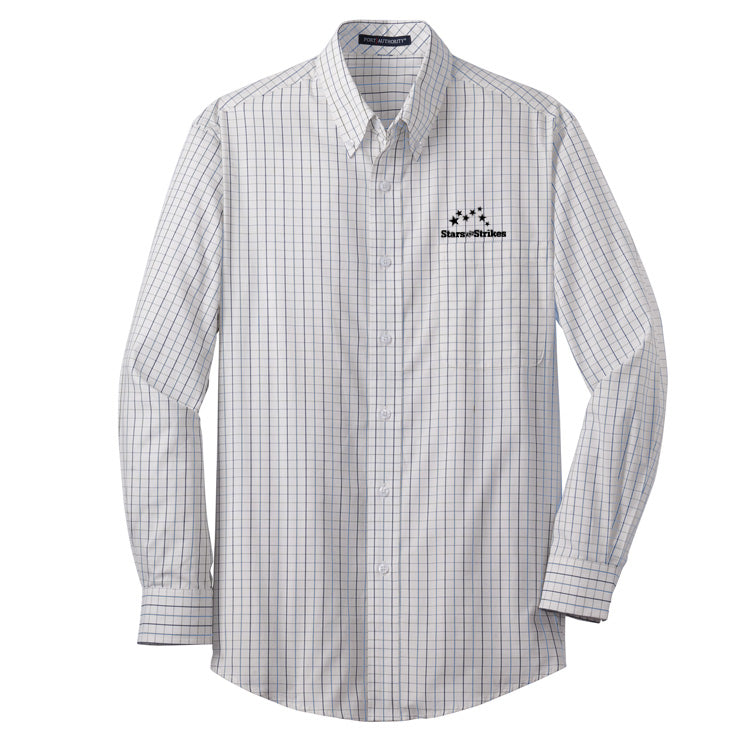 TALL Tattersall Easy Care Shirt (3 Color Options)