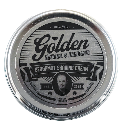Shaving Cream - Bergamot Scent - 3,3Oz / 100ml - Golden Shave -