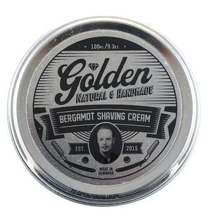 Barbercreme - Bergamot Duft - 3,3Oz / 100ml - Golden Shave -