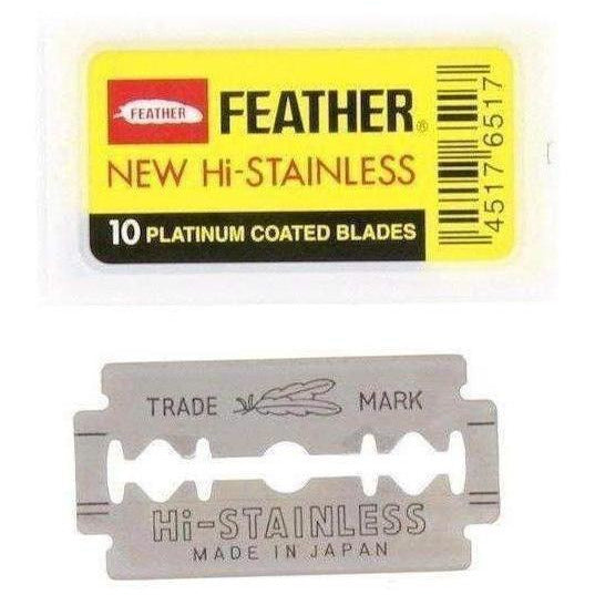 Feather Hi-Stainless Platinum Double Edge Razor Blades 1 x 10 stk