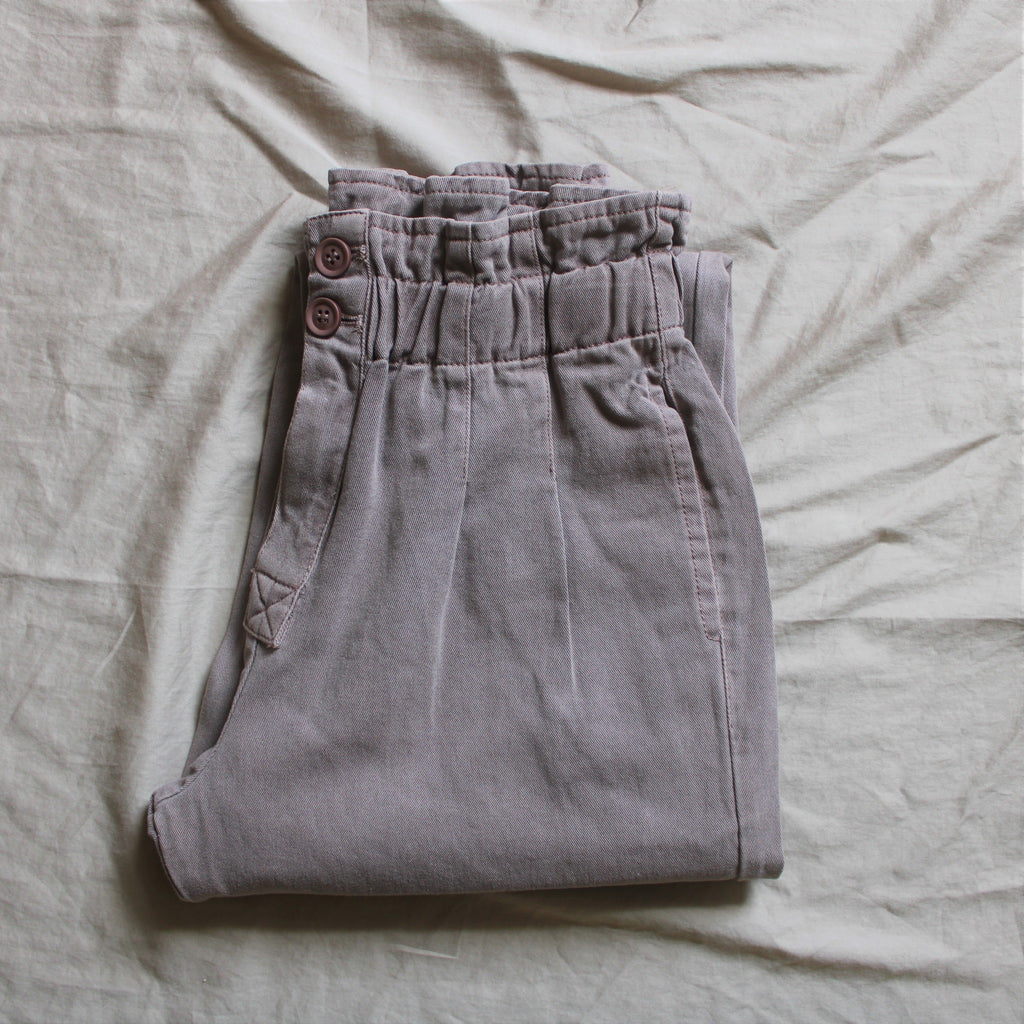 Women's Dusty Lilac Paper bag Pants